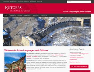asianlanguages.rutgers.edu screenshot