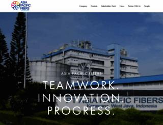 asiapacificfibers.com screenshot
