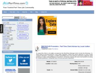 asiaparttime.com screenshot