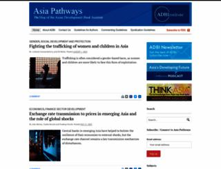 asiapathways-adbi.org screenshot
