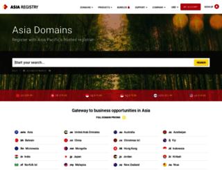 asiaregistry.com screenshot