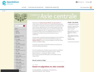 asiecentrale.revues.org screenshot