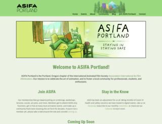 asifaportland.org screenshot