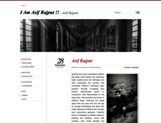 asifrajput.wordpress.com screenshot