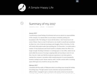 asimplehappylife.com screenshot