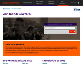 ask.superlawyers.com screenshot