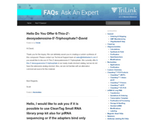 ask.trilinkbiotech.com screenshot
