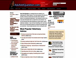 askavetquestion.com screenshot