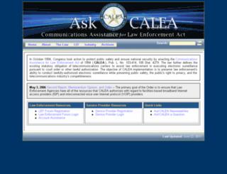 askcalea.fbi.gov screenshot