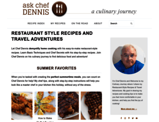 askchefdennis.com screenshot