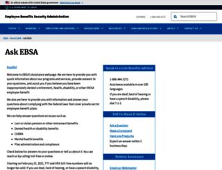 askebsa.dol.gov screenshot