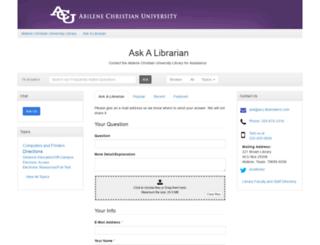 asklibrary.acu.edu screenshot