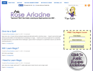 askroseariadne.com screenshot