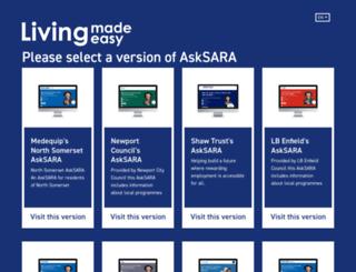 asksara.dlf.org.uk screenshot