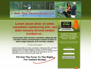 askthetenniscoach.com screenshot