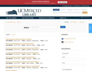askus.ucmercedlibrary.info screenshot