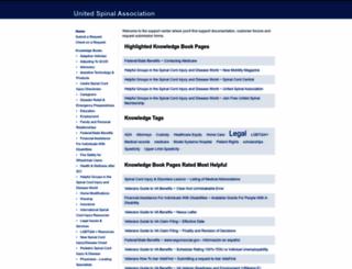 askus.unitedspinal.org screenshot