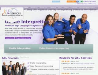 aslservices.net screenshot