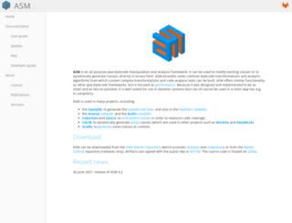 asm.objectweb.org screenshot