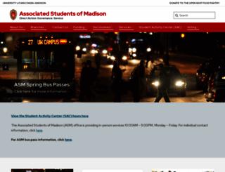 asm.wisc.edu screenshot