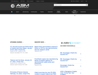 asmcommunity.asminternational.org screenshot