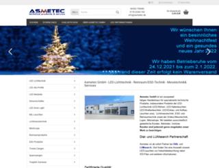 asmetec.de screenshot