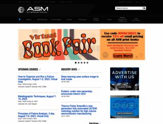 asminternational.org screenshot