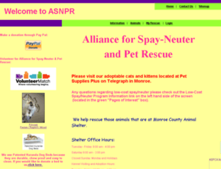 asnpr.rescuegroups.org screenshot