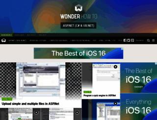 asp-net.wonderhowto.com screenshot