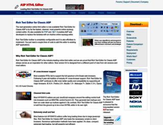 asp.richtexteditor.com screenshot