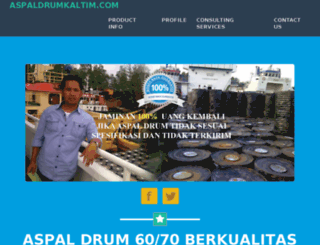 aspaldrumkaltim.com screenshot