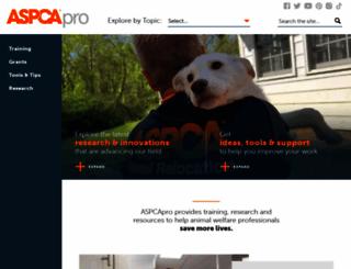 aspcapro.org screenshot