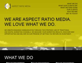 aspectratiomedia.com.au screenshot