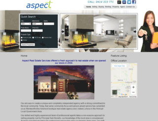 aspectrealestate.com.au screenshot