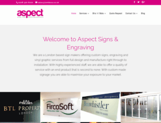aspectsigns.com screenshot