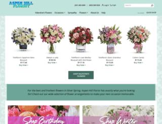 aspenhillflorist.com screenshot