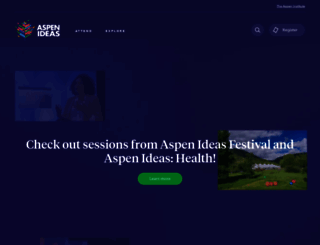aspenideas.org screenshot