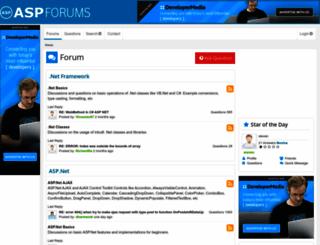 aspforums.net screenshot