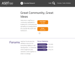 aspfree.com screenshot