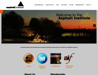 asphaltinstitute.org screenshot