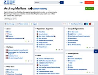 aspiring-martians.zeef.com screenshot