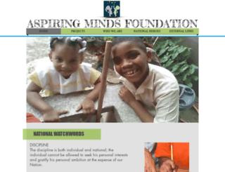 aspiringmindstandt.com screenshot