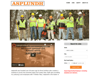 asplundh.ourcareerpages.com screenshot