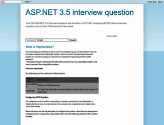 aspnet2008.blogspot.com screenshot