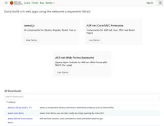 aspnetawesome.com screenshot
