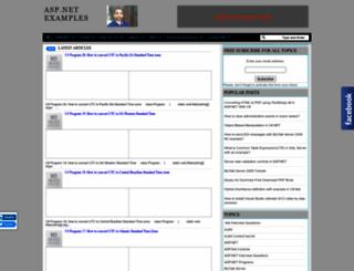aspnettutorialonline.blogspot.com screenshot
