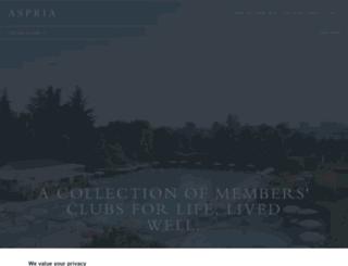 aspriaclub.be screenshot