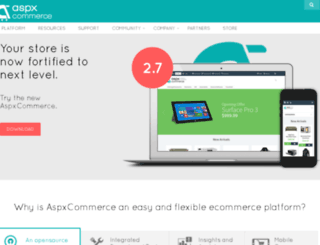 aspxcommerce.com screenshot