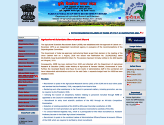 asrb.org.in screenshot