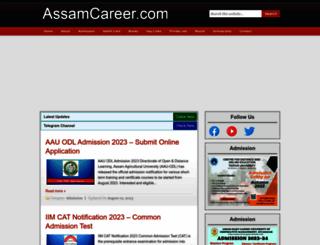 assamcareer.com screenshot